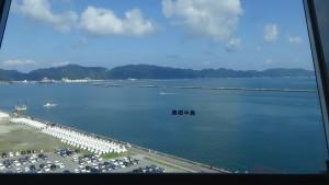 島根半島を望む鳥取県境港市